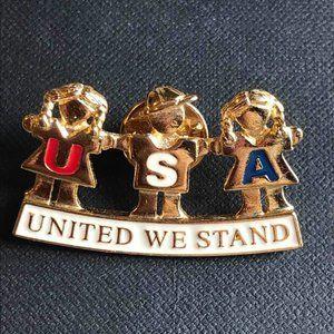 Cookie Lee Brooch Pin Vintage United We Stand NEW